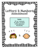 Letters and Numbers Assessment