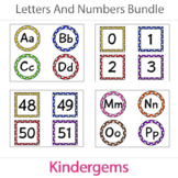 Letters and Numbers Cards Bundle Instant Download PDF; Pre