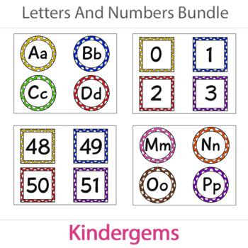 Letters and Numbers Cards Bundle Instant Download PDF; Preschool, Kindergarten