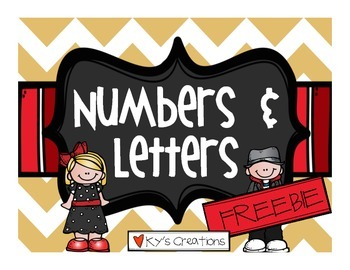 Numbers and Letters FREEBIE