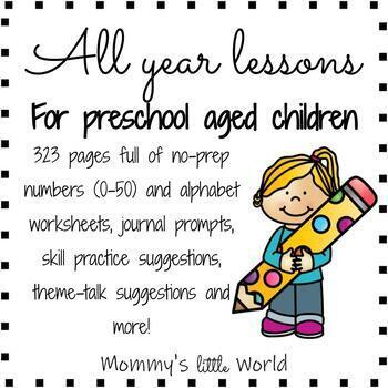 Letters and Numbers Lessons for the whole year