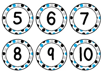 Letters and Numbers Polka Dot Labels