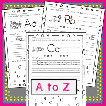 Letters and Numbers - *Print and Search*