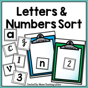 Letters and Numbers Sort