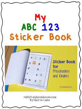 Letters and Numbers Sticker Book