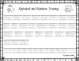 Letters and Numbers Tracing Worksheet