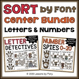 Letters and Numerals Centers (Sort by Font Style)