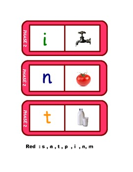 letters and sounds 28 phonics dominoes in red phase 2 satpin