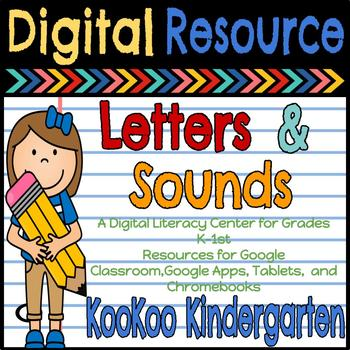 Letters and Sounds-A Digital Resource for Google Slides/ Google Classroom