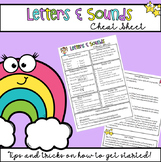 Letters and Sounds Cheat Sheet