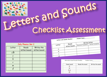 Letters and Sounds Checklist Assessment