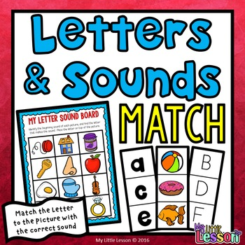 Letters and Sounds Match