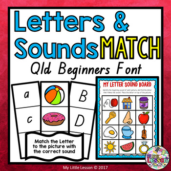 Letters and Sounds Match QLD Beginners Font