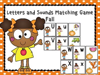 Letters and Sounds Matching Game Fall