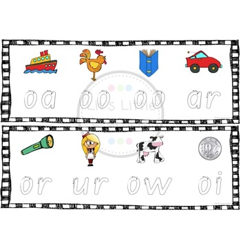 Letters and Sounds Phase 2 & 3 Letter Formation Tracing Cards
