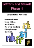 Letters and Sounds Phase 4 Activities No Prep