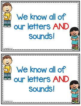 Letters and Sounds {Student Certificates & Classroom Display}