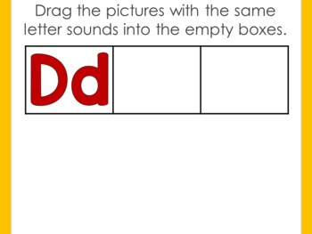 Letters and Sounds - What Doesn't Belong? + Boom Digital Slides Drag and Drop