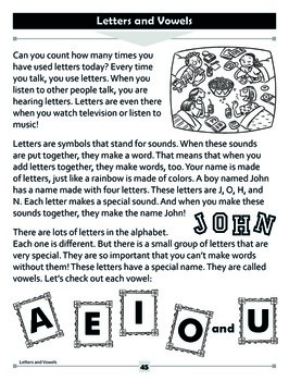 Letters and Vowels