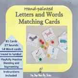 Letters and Words Matching Cards