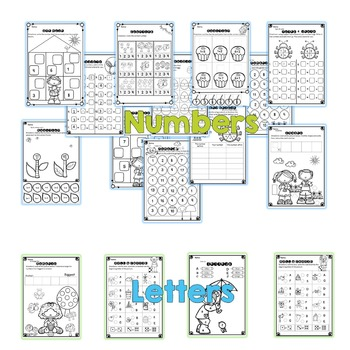 Letters and numbers print and go