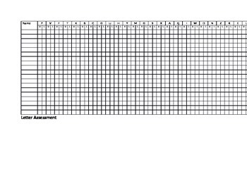 Letter and Sound Assessment Tracker (with flashcards)