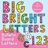 Letters for Bulletin Boards - Big Bright Letters