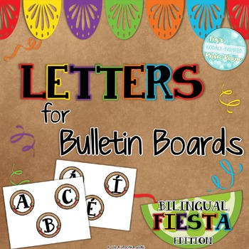 Letters for Bulletin Boards and Word Walls: Bilingual Fiesta