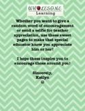 Letters for Encouragement, Teacher Appreciation, and Team