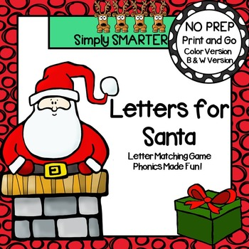 Letters for Santa:  NO PREP Letter Matching Spin and Cover Game