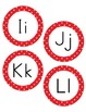 Letters for Word Wall - Red and White Polka Dot Pattern