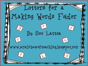 Letters for a Making Words Folder
