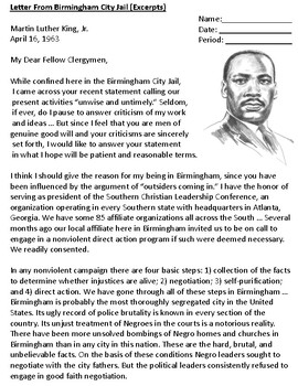 Letters from Birmingham Jail by Martin Luther King Jr.
