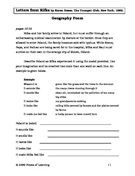 Letters from Rifka Literature Guide