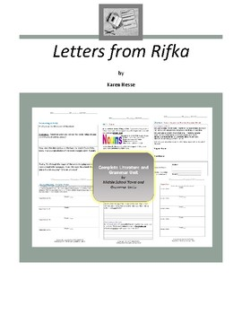 Letters from Rifka Complete Literature and Grammar Unit