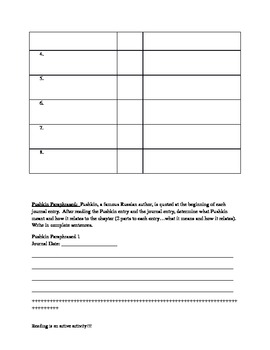 Letters from Rifka Reader Response Journal