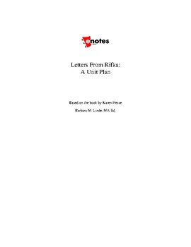 Letters from Rifka Unit Lesson Plan