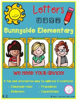 Letters from Sunnyside Elementary.  We Need Your Advice!