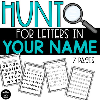 Hunt for Letters in Your Name