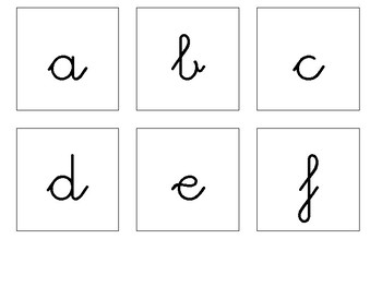 Letters in capital, lower case and cursive
