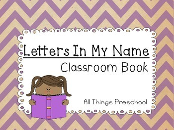 Preschool Classroom Name Book