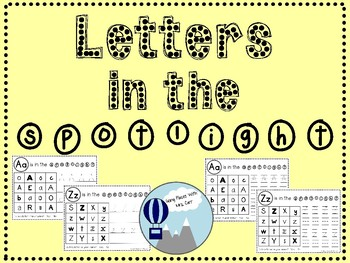 Letters in the Spotlight---Letter Identification
