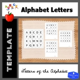 Letters of Alphabet Template