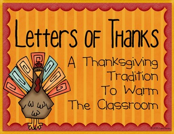 Letters of Thanks - A Thanksgiving Writing Activity