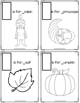 Letters of Thanksgiving Mini Book