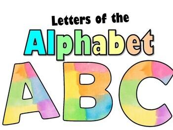 Letters of the ALPHABET / Letras del ABECEDARIO