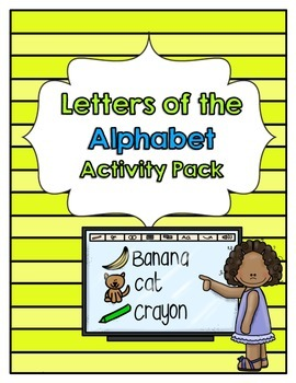 Letters of the Alphabet Activity Packet