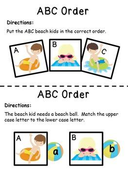 Letters of the Alphabet Beach Theme