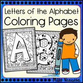 Letters of the Alphabet Coloring Pages