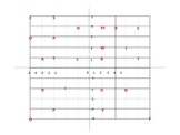 Letters of the Alphabet Coordinates Grid